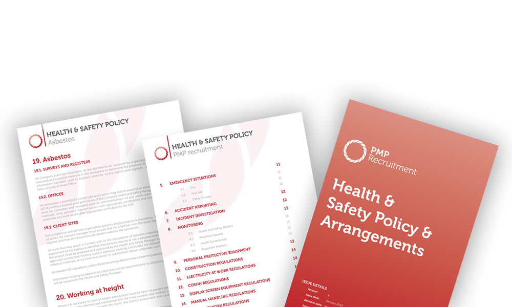 pmp health and safety documents
